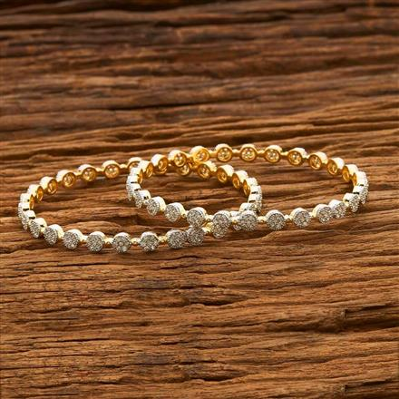55685 CZ Classic Bangles with 2 tone plating