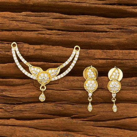 55742 CZ Classic Mangalsutra with gold plating
