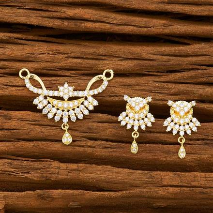 55744 CZ Classic Mangalsutra with gold plating