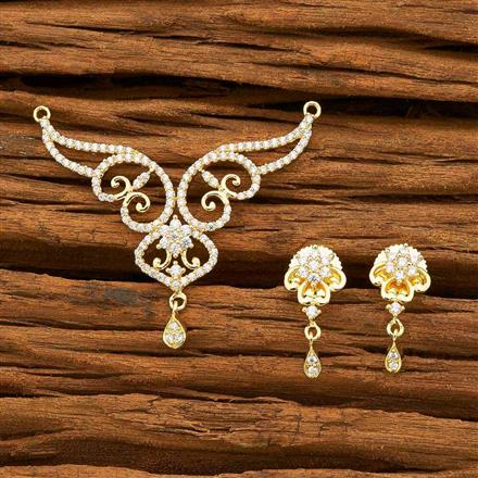 55746 CZ Classic Mangalsutra with gold plating