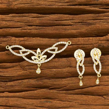 55748 CZ Classic Mangalsutra with gold plating
