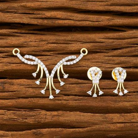 55750 CZ Classic Mangalsutra with 2 tone plating