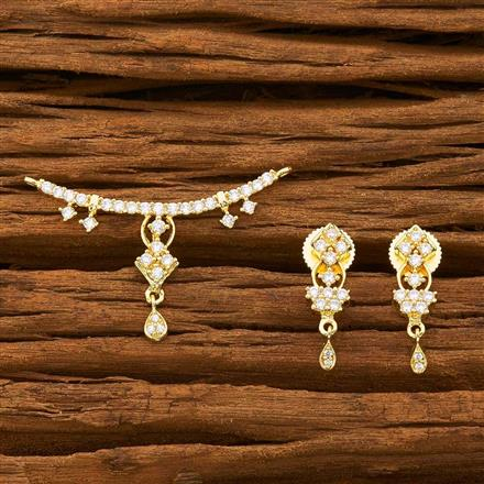 55752 CZ Classic Mangalsutra with gold plating