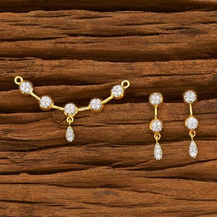 55782 CZ Delicate Mangalsutra with 2 tone plating