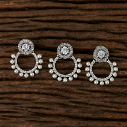 570016 Cz Delicate Pendant set with Rhodium Plating