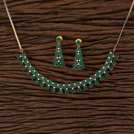 570119 Cz Classic Necklace with Gold Plating