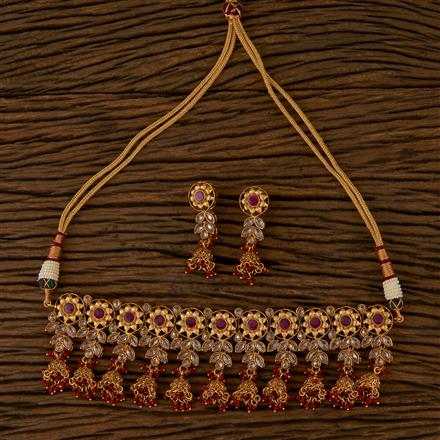 590002 Antique Choker Necklace with Gold Plating