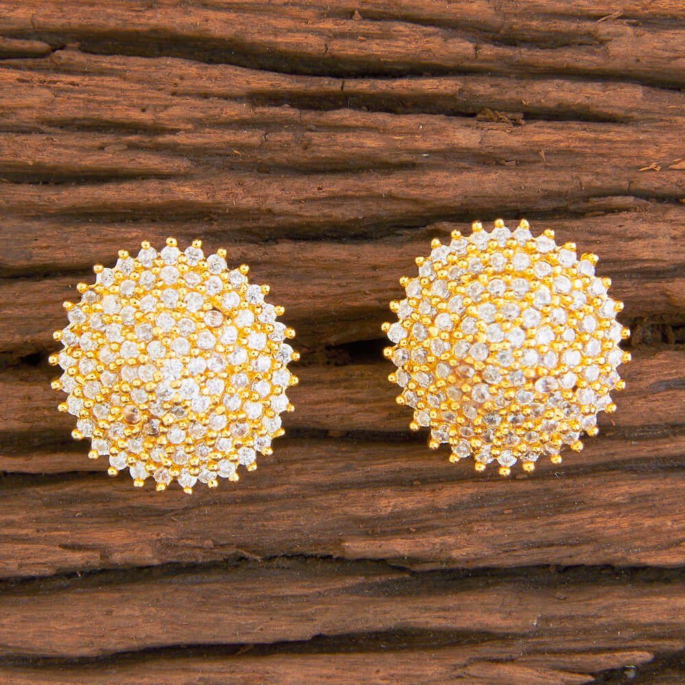 59610 American Diamond Tops With Gold Plating