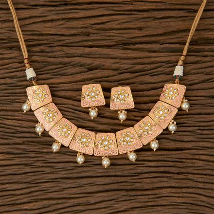 620041 Kundan Classic Necklace with Gold Plating