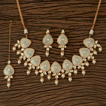 620044 Kundan Classic Necklace with Gold Plating
