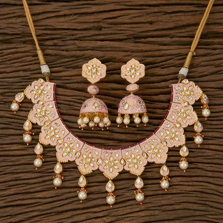 620045 Kundan Classic Necklace with Gold Plating