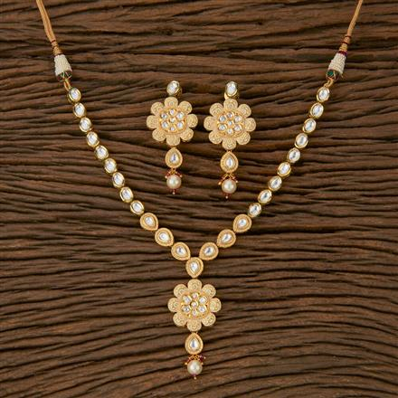 620047 Kundan Classic Necklace with Gold Plating