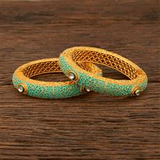 640023 Antique Openable Bangles With Gold Plating