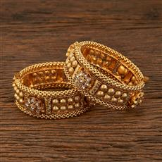 640033 Antique Openable Bangles With Gold Plating