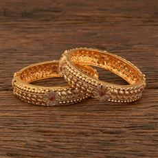 640034 Antique Openable Bangles With Gold Plating