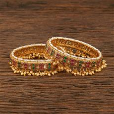 640039 Antique Openable Bangles With Gold Plating