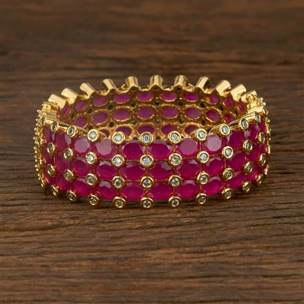 640052 Cz Classic Bangles With Gold Plating
