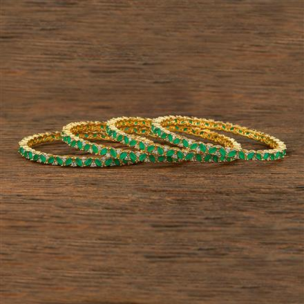 640057 Cz Classic Bangles With Gold Plating