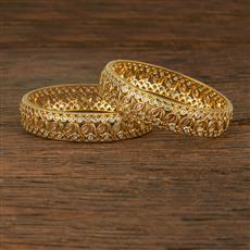 640058 Cz Classic Bangles With Gold Plating