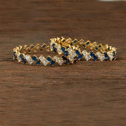 640060 Cz Classic Bangles With Gold Plating