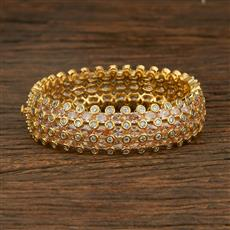 640061 Cz Classic Bangles With 2 Tone Plating