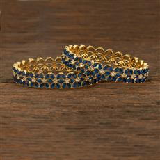 640064 Cz Classic Bangles With Gold Plating