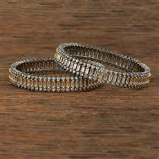 640071 Cz Classic Bangles With Black Plating