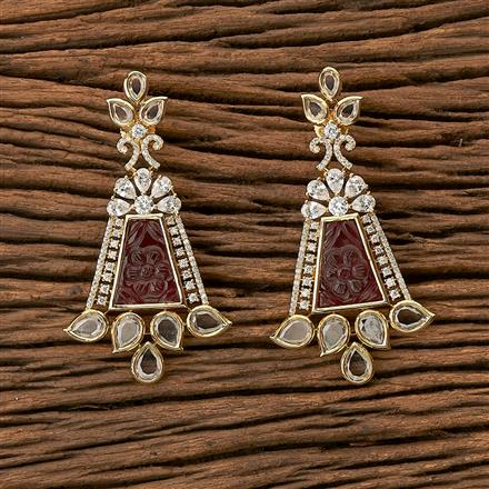 64980 CZ Classic Earring with gold plating