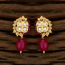 650014 Kundan Tops With Gold Plating