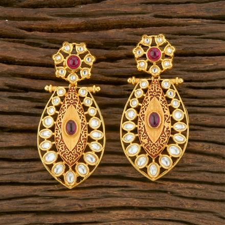 650020 Kundan Classic Earring With Gold Plating