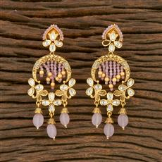 650022 Kundan Classic Earring With Gold Plating