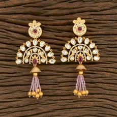 650027 Kundan Classic Earring With Gold Plating