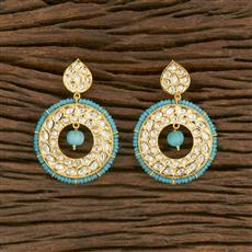 650028 Kundan Classic Earring With Gold Plating