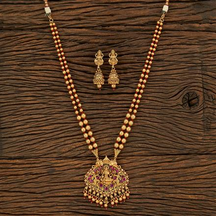 650075 Antique Temple Pendant Set With Gold Plating