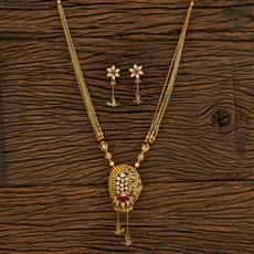 650086 Antique Classic Pendant Set With Gold Plating
