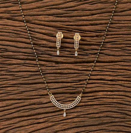65417 CZ Classic Mangalsutra with 2 tone plating