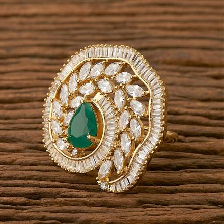 65625 CZ Classic Ring with gold plating