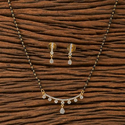 66033 CZ Classic Mangalsutra with 2 tone plating