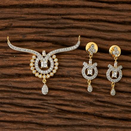 66664 CZ Classic Mangalsutra with 2 tone plating