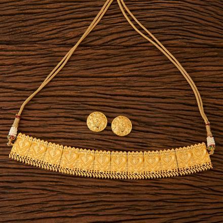 67426 Designer Plain Necklace with gold plating