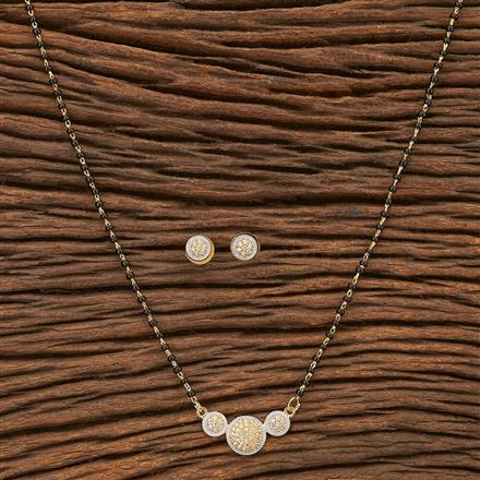 69239 CZ Delicate Mangalsutra with 2 tone plating