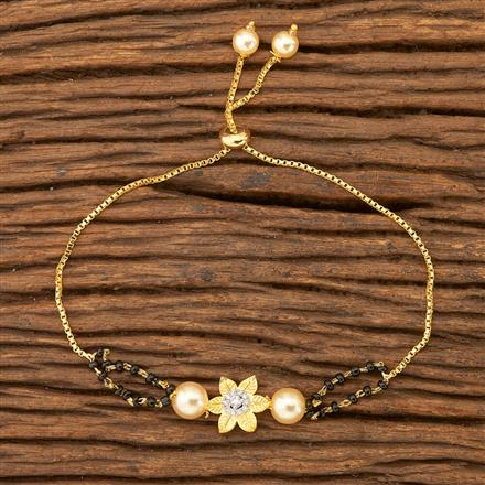 69484 Cz Delicate Bracelet with 2 Tone plating