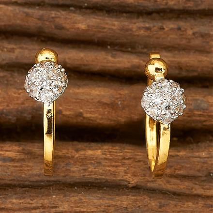 69692 Cz Delicate Nose Ring with 2 Tone plating