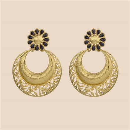 8028 Indo Western Chand Earring with mehndi plating