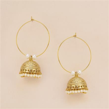8032 Indo Western Jhumki with mehndi plating