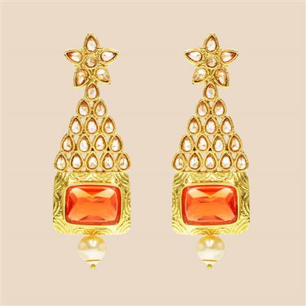 8035 Indo Western Classic Earring with mehndi plating