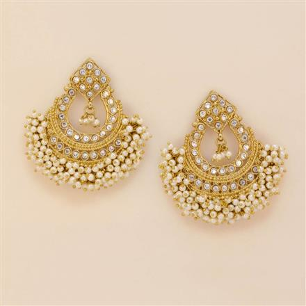 8041 Indo Western Chand Earring with mehndi plating