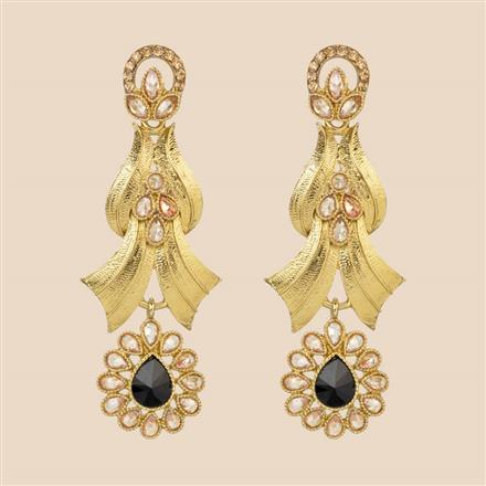 8044 Indo Western Long Earring with mehndi plating