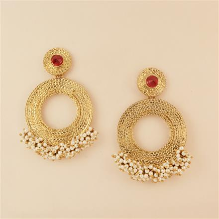8050 Indo Western Long Earring with mehndi plating