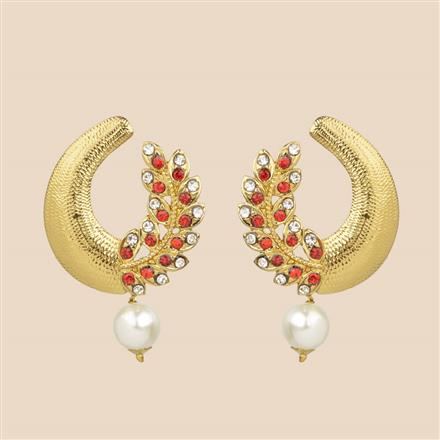 8051 Indo Western Classic Earring with mehndi plating